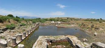 Большой памятник гавани в Miletus Стоковое Фото