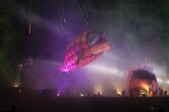 Большой парад драконов Стоковое Фото