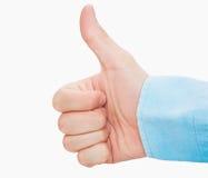 Большой палец руки вверх по о'кей стоковая фотография