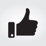 Большой палец руки вверх с черно-белым стилем Стоковые Изображения RF