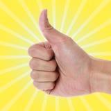 Большой палец руки вверх Стоковые Изображения