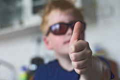 Большой палец руки вверх! Стоковые Изображения RF