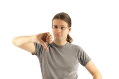 Большой палец руки вниз стоковая фотография rf