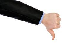 Большой палец руки вниз Стоковое Изображение