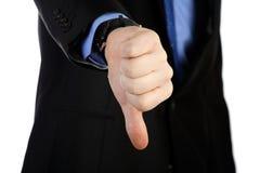 Большой палец руки вниз Стоковое Фото