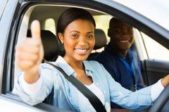 Большой палец руки водителя вверх Стоковые Фото