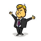 Большой палец руки 10-ое января 2017 Дональд Трамп вверх иллюстрация штока