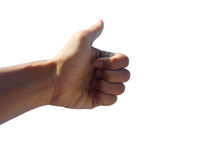 Большой палец руки - пальцы стоковые изображения