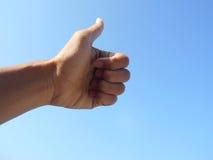 Большой палец руки - пальцы стоковое изображение rf