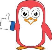 Большой палец руки талисмана пингвина вверх Стоковые Фото