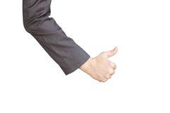 большой пец руки предпосылки изолированный чернотой вверх Стоковое Фото