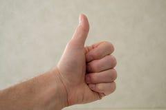 большой пец руки предпосылки изолированный чернотой вверх Стоковые Фотографии RF
