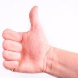 большой пец руки предпосылки изолированный чернотой вверх стоковое изображение