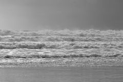 Большой прибой после шторма Стоковая Фотография