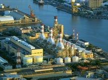 Большой промышленный комплекс стоковая фотография rf