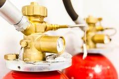 Большой промышленный огонь СО2 - тушащ Стоковое Изображение RF