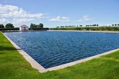Большой пруд мергельный и дворец Стоковые Фото