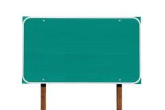 Большой пустой зеленый изолированный знак шоссе Стоковые Изображения