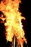 Большой пламенеющий костер Стоковое Фото