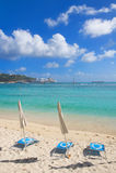 Большой пляж залива - Philipsburg Sint Maarten - карибский тропический остров Стоковое Изображение RF