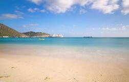 Большой пляж залива - Philipsburg Sint Maarten - карибский тропический остров Стоковая Фотография RF