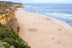 Большой пляж дороги океана Стоковое Изображение