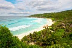 Большой пляж Anse в Ла Digue Стоковые Изображения
