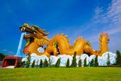 Большой дракон на музее публики выходцев дракона Стоковое фото RF