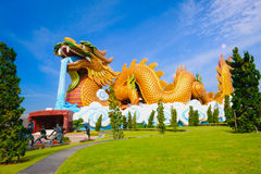Большой дракон на музее публики выходцев дракона Стоковые Фото