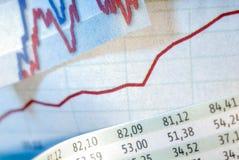 большой рынок диаграммы нумерует шток Стоковые Изображения RF