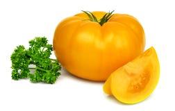 Большой свежий желтый томат Стоковое Изображение