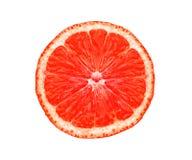 Большой свежий сочный кусок грейпфрута изолированный на белизне Стоковое Изображение