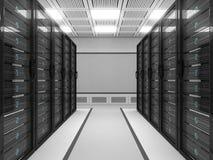 большой сервер комнаты иллюстрация вектора