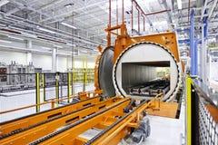 Большой склад, машина автоклава Стоковая Фотография