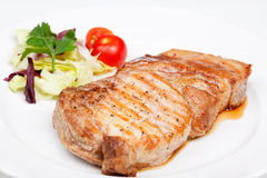 Большой стейк говядины с овощами Стоковая Фотография RF