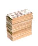 Большой стог банкнот доллара Стоковая Фотография RF