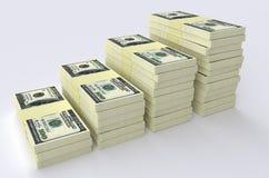 Большой стог денег деньги финансов принципиальных схем чалькулятора Стоковые Изображения RF