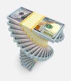 Большой стог денег деньги финансов принципиальных схем чалькулятора Стоковая Фотография RF