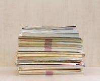 Большой стог конца-вверх кассет Стоковые Фото
