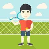 Большой теннисист Стоковые Изображения