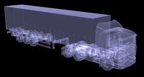 Большой трактор тележки Стоковая Фотография