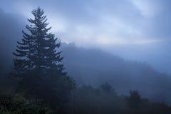 Большой туман закоптелых гор Стоковое Изображение RF
