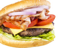 Большой тучный бургер Стоковая Фотография