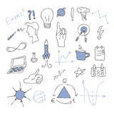 Большой установленный doodle - идея, дело Стоковые Изображения