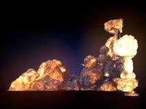 Большой файрбол изолированный на темной предпосылке перевод 3d бесплатная иллюстрация