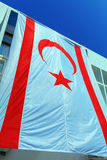 Большой флаг северного Кипра Стоковое Фото