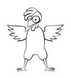 Большой цыпленок с гребнем Иллюстрация штока