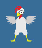 Большой цыпленок с красным гребнем Бесплатная Иллюстрация