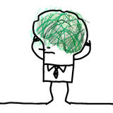 Большой человек мозга - doodle и запутанность иллюстрация штока