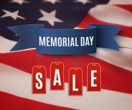 Большой шаблон предпосылки продажи Дня памяти погибших в войнах Стоковое Изображение RF